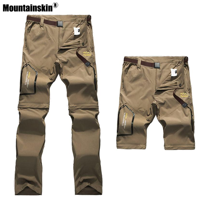 Mountainskin 6XL Men's Summer Quick Dry Pants Outdoor Male Removable Shorts Hiking Camping Trekking Fishing Sport Trousers