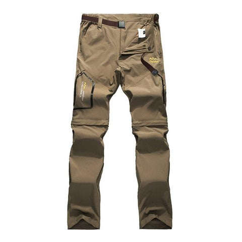 Image of Mountainskin 6XL Men's Summer Quick Dry Pants Outdoor Male Removable Shorts Hiking Camping Trekking Fishing Sport Trousers