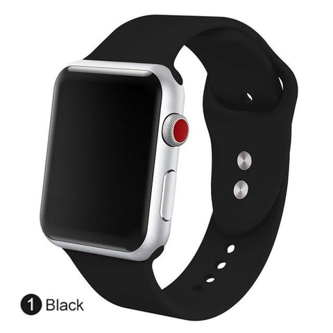 Image of MU SEN  Soft Silicone Replacement Sport Band For 38mm Apple Watch Series1 2 42mm Wrist Bracelet Strap For IWatch Sports Edition