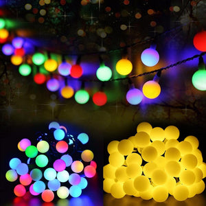 Multicolor 50Leds Solar Light Series Waterproof Outdoor Ball Fairy String Holiday Xmas Garden Wedding Home Decoration LED String