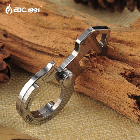 Image of Multifunction Outdoor Camping Hand Tool Fish Survival EDC Gear Mini Pocket Ultra-thin Tactical Wrench Screwdriver Bottle Opener