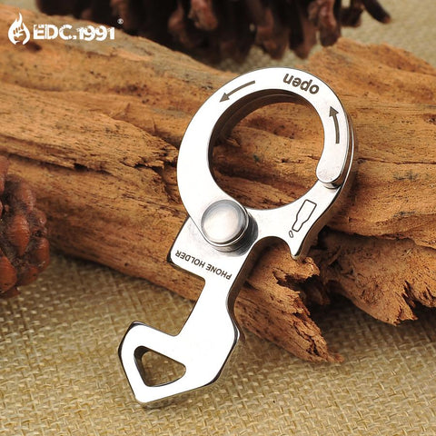 Multifunction Outdoor Camping Hand Tool Fish Survival EDC Gear Mini Pocket Ultra-thin Tactical Wrench Screwdriver Bottle Opener