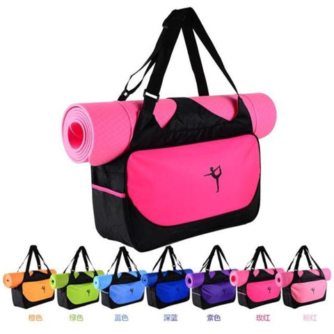 Image of Multifunctional Waterproof Clothes Backpack Yoga Mat Bag Women's Pilates Fitness Shoulder Bag Gym Sports Case Bag (Without Mat)