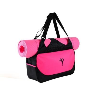 Multifunctional Waterproof Clothes Backpack Yoga Mat Bag Women's Pilates Fitness Shoulder Bag Gym Sports Case Bag (Without Mat)