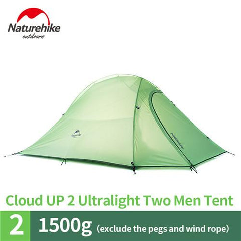 Image of Naturehike CloudUp Series Ultralight Hiking Tent 20D Fabric For 2 Person With Mat NH15T002-T