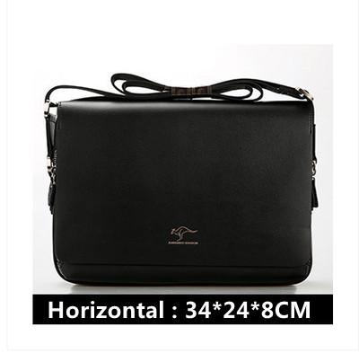 Image of New Arrived Brand Kangaroo Men's Messenger Bag Vintage Leather Shoulder Bag Handsome Crossbody Bag Free Shipping