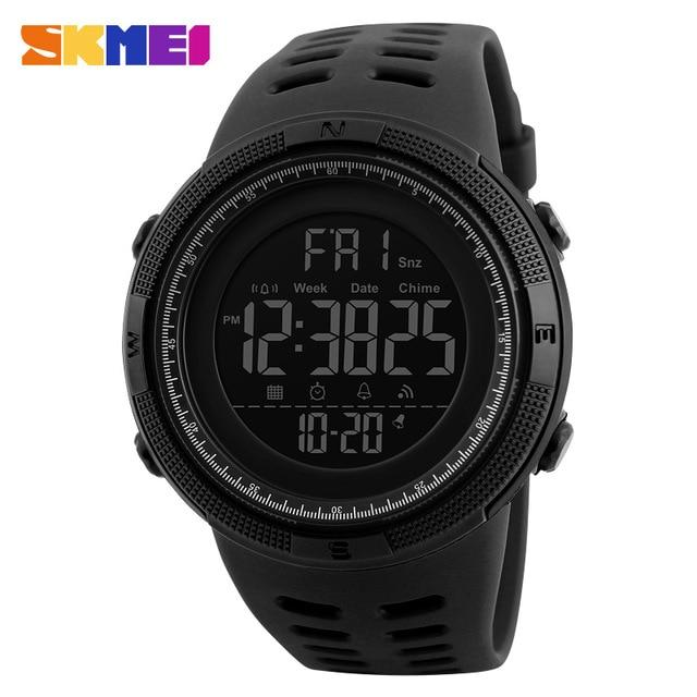 New Fashion Luxury Sport Watch Men SKMEI Digital LED Waterproof Outdoor Dress Watches Chrono Countdown Dual Time Wristwatches