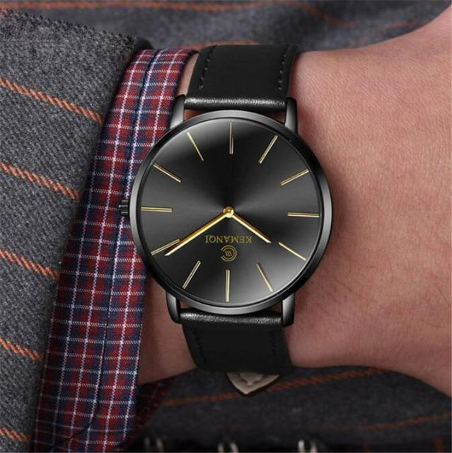 New Men's Watch 6.5mm Ultra-thin Fashion KEMANQI Watches Simple Business Men Quartz Watches Roman Masculine Male Clock Relojes