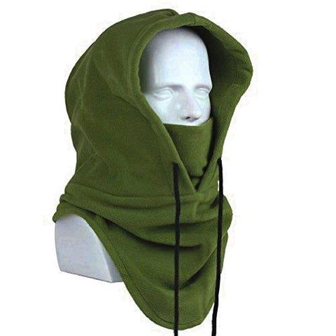 Image of Oldelf Tactical Heavyweight Balaclava Outdoor Sports Mask For Outdoor Hiking Camping Hiking Skiing Cycling And Other Sports (Army Green)