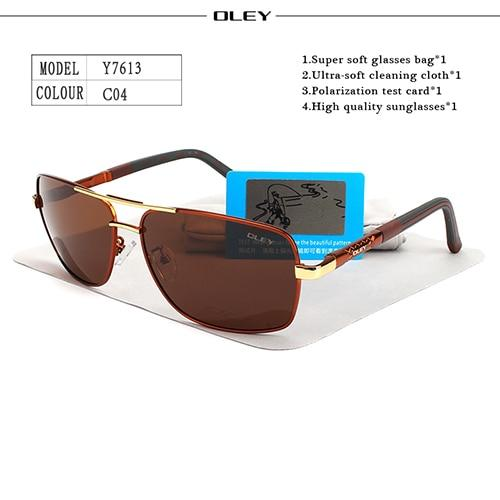 OLEY Brand Polarized Sunglasses Men New Fashion Eyes Protect Sun Glasses With Accessories Unisex
