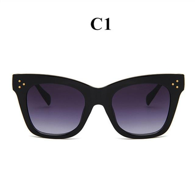 Oulylan Classic Cat Eye Sunglasses Women Vintage Oversized Gradient Sun Glasses Shades Female Luxury Designer UV400 Sunglass