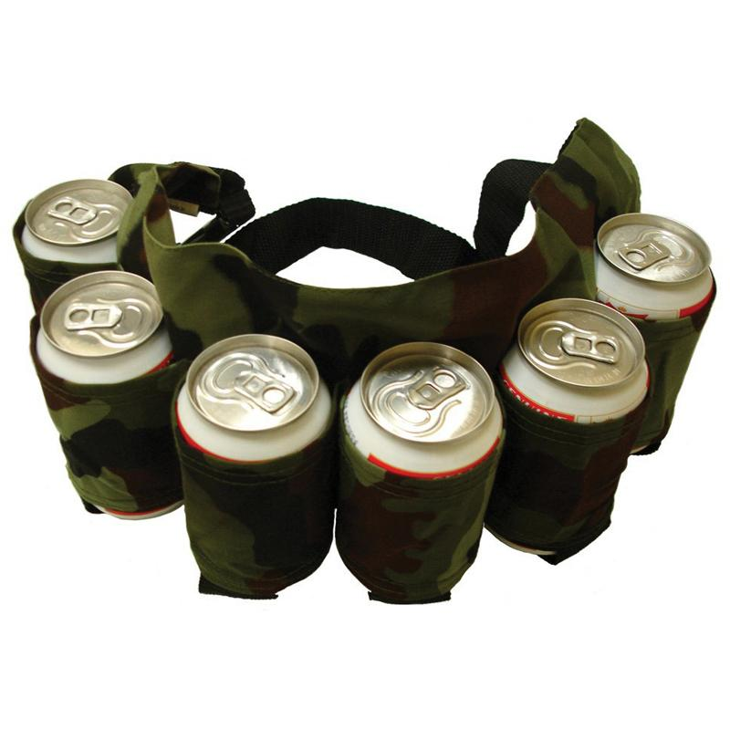 Outdoor Climbing Camping Hiking 6 Pack Holster Portable Bottle Waist Beer Belt Bag Handy Wine Bottles Beverage Can Holder