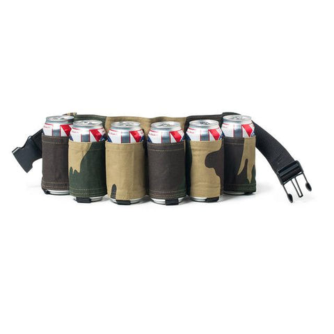 Image of Outdoor Climbing Camping Hiking 6 Pack Holster Portable Bottle Waist Beer Belt Bag Handy Wine Bottles Beverage Can Holder