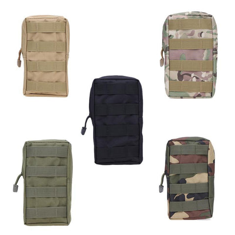 Outdoor Military Tactical Molle Pockets Bag Zipper Package Waist Pouch Outdoor Camping Backpack Attached Pouch 21 X 11.5 X 6cm