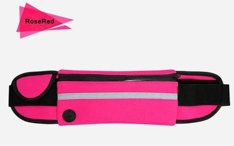 Image of Outdoor Running Waist Bag Waterproof Mobile Phone Holder Jogging Belt Belly Bag Women Gym Fitness Bag Lady Sport Accessories