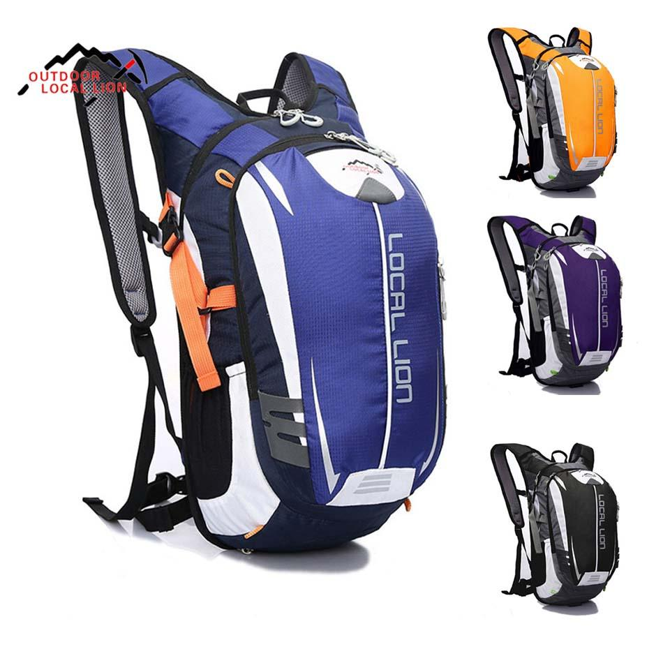 Outdoor Sport Bag LOCAL LION 18L Waterproof Bicycle Backpack Cycling Bike Rucksacks Packsack Riding Running Backpack Ride Pack