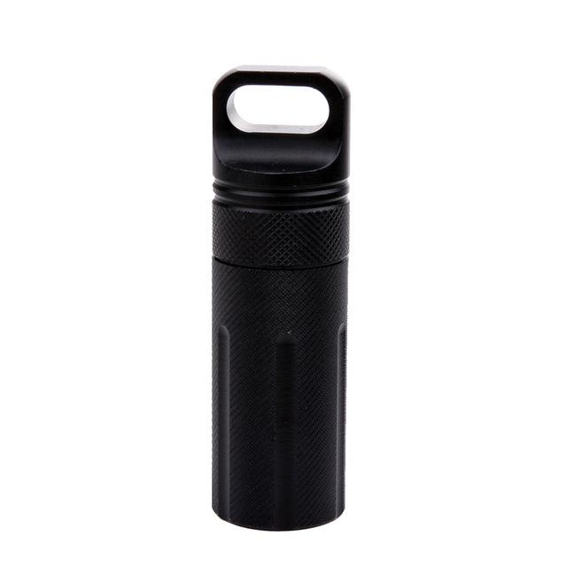 Outdoor Strong CNC Waterproof Emergency First Aid Kits Safety Survival Pill Bottle Aluminium Camping EDC Tank Box For Cigarettes