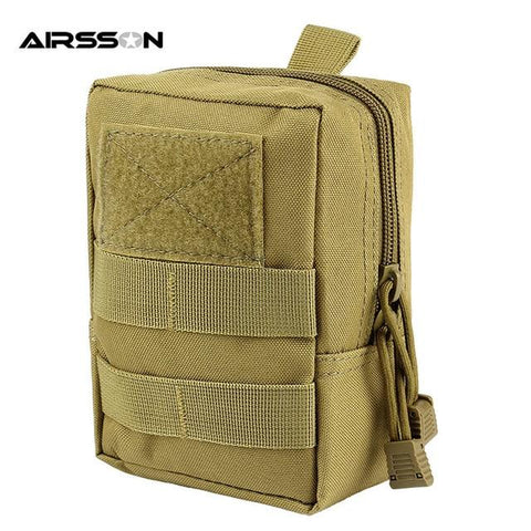 Image of Outdoor Tactical Molle EDC Pouch Utility Gadget Belt Waist Bag 1000D Military Equipment Portable Waterproof Camping Hiking Bags