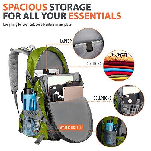 OutdoorMaster Hiking Backpack 50L - Weekend Pack W/ Waterproof Rain Cover & Laptop Compartment - For Camping, Travel, Hiking