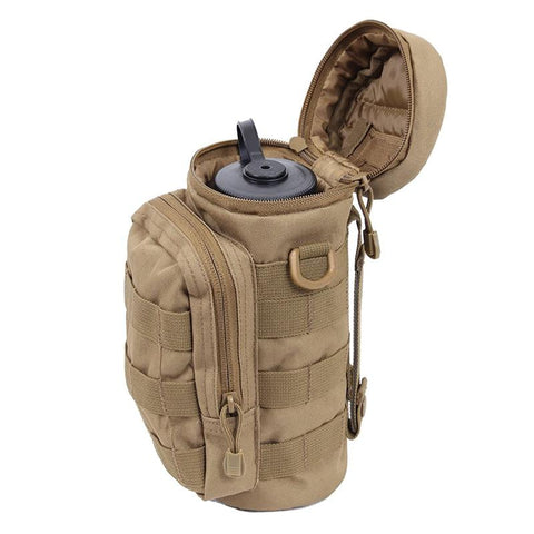 Outdoors Molle Water Bottle Pouch Tactical Gear Kettle Waist Shoulder Bag For Army Fans Climbing Camping Hiking Bags J2