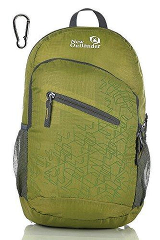 Image of Outlander Packable Handy Lightweight Travel Hiking Backpack Daypack, Green