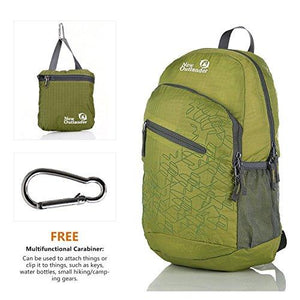 Outlander Packable Handy Lightweight Travel Hiking Backpack Daypack, Green