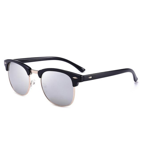 Image of Polarized Sunglasses Men Fashion Night Vision Driving Sunglass Classic Retro Round Shades Sun Glasses Male Eyewear