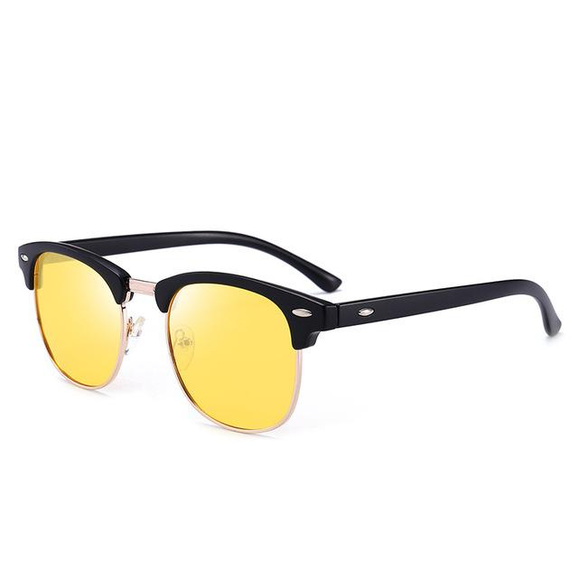 Polarized Sunglasses Men Fashion Night Vision Driving Sunglass Classic Retro Round Shades Sun Glasses Male Eyewear