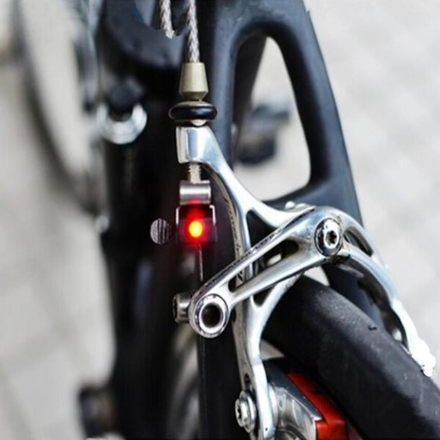 Portable Mini Brake Bike Light Mount Tail Rear Bicycle Light Cycling LED Light High Brightness Waterproof Red LED Lamp