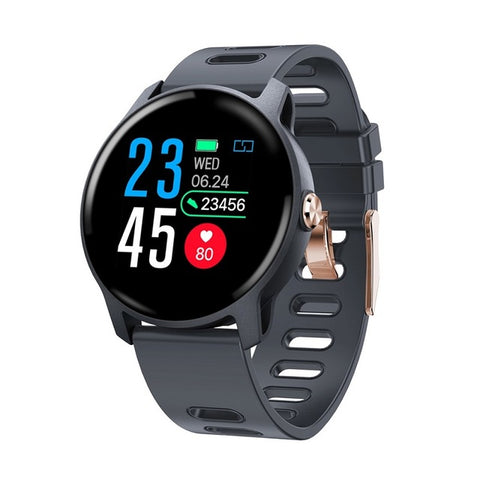 Men Sports Pedometer Smart Watch IP68 Waterproof  Fitness Tracker Heart Rate Monitor Women Smartwatch