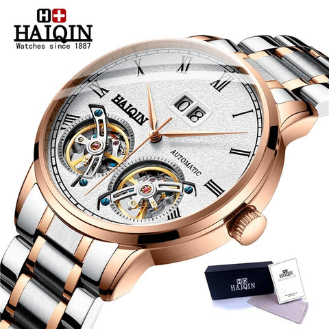 HAIQIN Mens Watches top brand luxury Automatic mechanical sport watch men wirstwatch Tourbillon