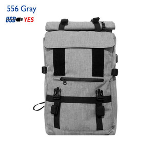 OZUKO 40L Large Capacity Travel Backpacks Men USB Charge Laptop Backpack Multifunction Travel Male School Bag
