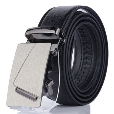 Image of Cody Steel PU Leather Mens Belts Automatic Buckle Fashion Belts For Men Business Black Belts Luxury