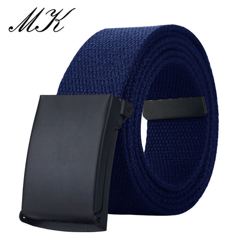 MaiKun Canvas Belts for Men Military Tactical Male Metal Slider Buckle Belts