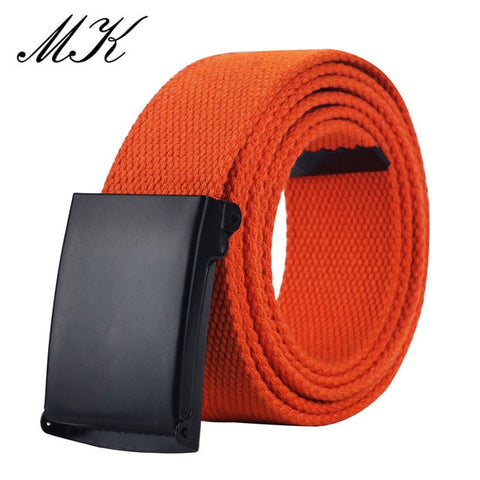 Image of MaiKun Canvas Belts for Men Military Tactical Male Metal Slider Buckle Belts