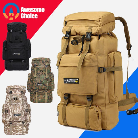 70L Outdoor Backpack Molle Military Tactical Backpack Rucksack Sports Bag Waterproof Camping Hiking Backpack For Travel