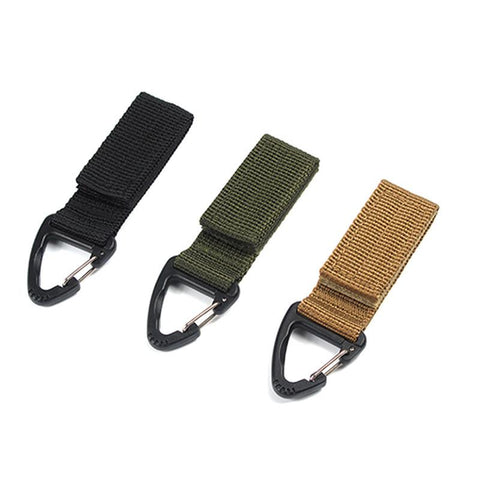 Climbing Accessory Outdoor Carabiner Strength nylon tactical backpack key hook webbing buckle hanging system Belt buckle hanging