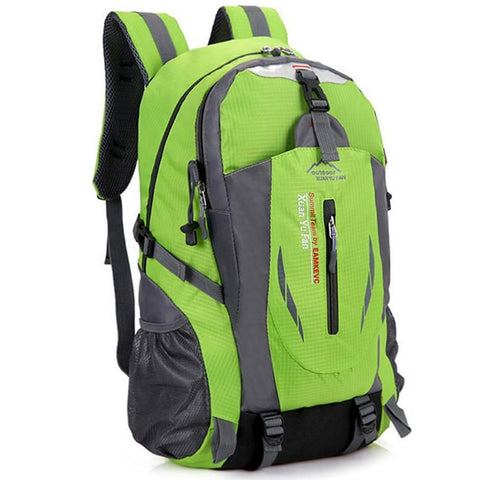 Men Nylon Travel Backpack Large Capacity Camping Casual Backpack 15-inch Laptop Backpack Women Outdoor Hiking Bag