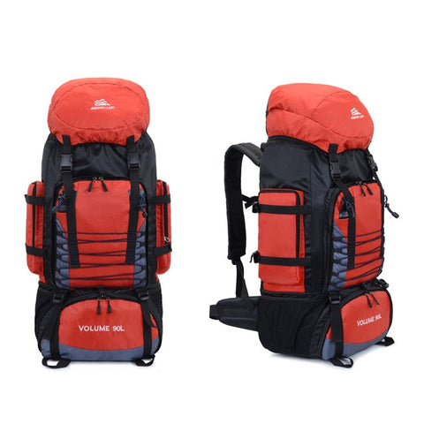 90L Travel Camping Backpack Rucksack Hiking Climbing Bag Trekking Mountaineering Large Capacity Sports Bag