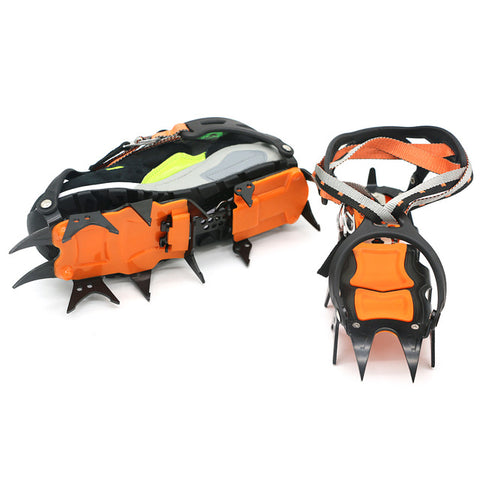 14 Teeth Ice Gripper Non Slip Climbing Crampons Cleats Shoe Cover Ice Crampons Winter Snow Spikes Boot Shoes For Winter