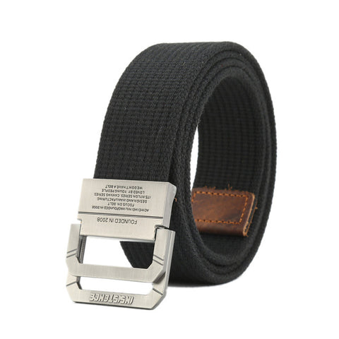 Nylon Canvas Belt men Army Tactical Belts Outdoor sport double buckle weave cowboy pants belt