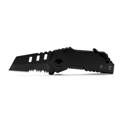 B2 Bomber Nano Blade mini knife Swiss military knife bearing steel retired knife folding keychain Camping Outdoor Knife Tools