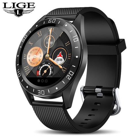 Image of LIGE Smart Watch Men LED Screen Heart Rate Monitor Blood Pressure Fitness tracker Sport Watch waterproof Smartwatch + Box