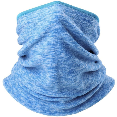 Winter Polar Fleece Thermal Balaclava Neck Gaiter Headband Half Face Mask Cold Weather Warm Tube Ring Scarf Bandana Women or Men