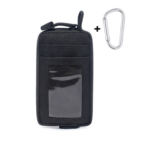 Image of Tactical Wallet Card Bag Waterproof Card Key Holder Money Pouch Pack Outdoor Military Multifunction Wallet Waist Bag