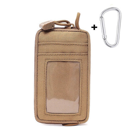 Tactical Wallet Card Bag Waterproof Card Key Holder Money Pouch Pack Outdoor Military Multifunction Wallet Waist Bag
