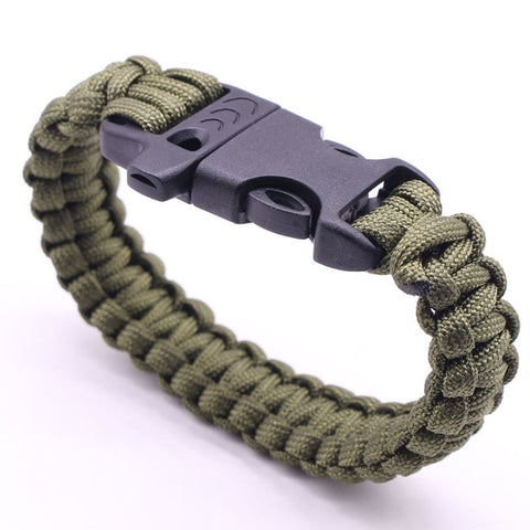 Braided Bracelet Men Multi-function Paracord Survival Bracelet Outdoor Camping Rescue Emergency Rope Bracelets For Women