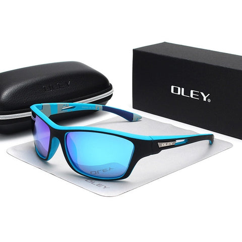 Image of OLEY Polarized Sunglasses Men's Driving Shades Outdoor sports For Men Luxury Brand Designer