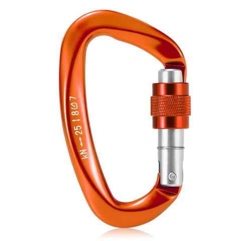 Image of Lixada 25KN Carabiner for Climbing EDC Fishing Climbing Equipment Mountaineering Carabiners Rappelling