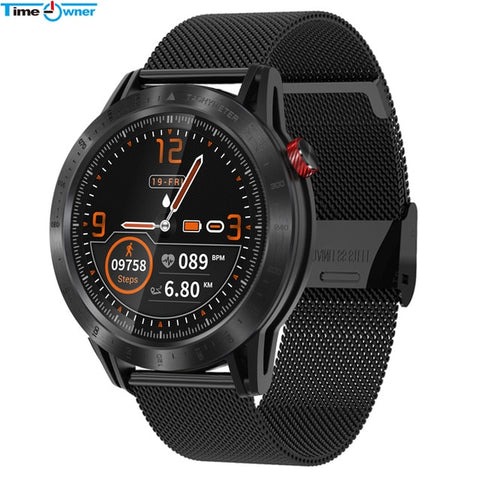 Time Owner CROSS Smart Watch Full Touch Round Screen  IP68 Waterproof Heart Rate Monitor Multi Sport Fitness Tracker Smartwatch